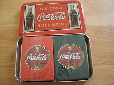 Playing cards. double deck in Coca Cola tin