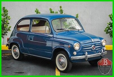 1962 Fiat Other SUICIDE DOORS FIAT 600 FULLY RESTORED 1962 CLEAN! 1962 FIAT 600 ITALIAN COUPE FULLY RESTORED EURO CAR WITH FLORIDA TITLE 500 SEAT