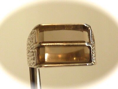 Vintage  Sterling silver SMOKEY quartz sz 7.75 amazing Ring  new OLD STOCK