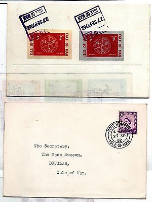 GB Calf of Man 1962 set used on cover