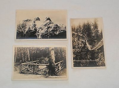 Lot of 3 Older real photo - Vancouver British Columbia postcards