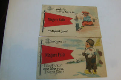 Niagara Falls, Canada--Lot of 2 Vintage Post Cards--Dutch Theme--Humour?