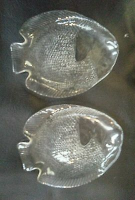retro clear glass fish plates