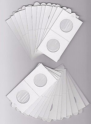 "LIGHTHOUSE 27.5mm SELF ADHESIVE 2""x 2"" COIN HOLDERS x 25 - SUIT HALFPENNY"