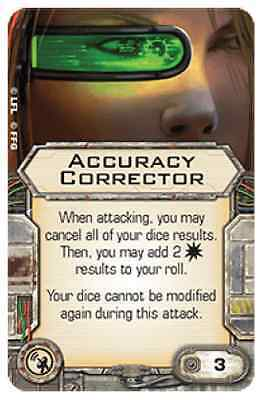 Accuracy corrector X-wing system Upgrade card