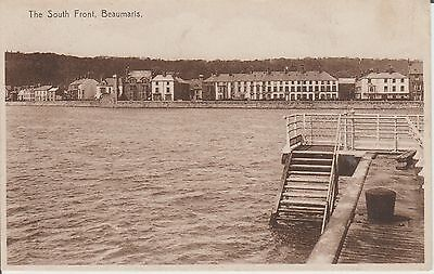 Beaumaris - The South Front -Anglesey - Real Photo  - Postcard