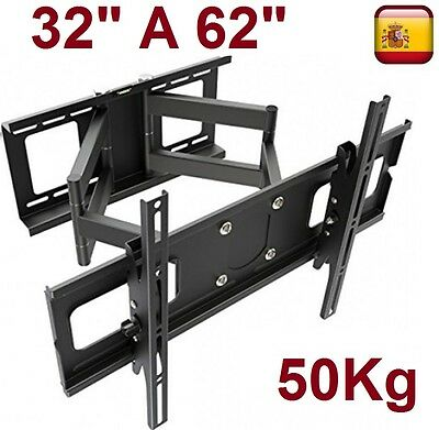 "Soporte de pared para smart tv lcd led 4K plasma 32"" A 62"".giratorio inclinable"
