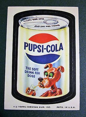 1974 Topps Wacky Packages Series 10, PUPSI COLA sticker