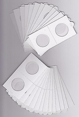 "LIGHTHOUSE 30mm SELF ADHESIVE 2""x 2"" COIN HOLDERS x 25 - SUIT FLORIN/ 20 CENT"