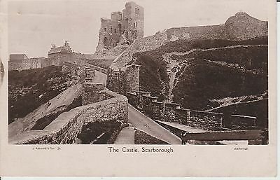 Scarborough - The Castle - Real Photo  - Postcard