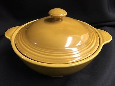 Fiesta Coventry Casualstone Antique Gold Covered Casserole Dish