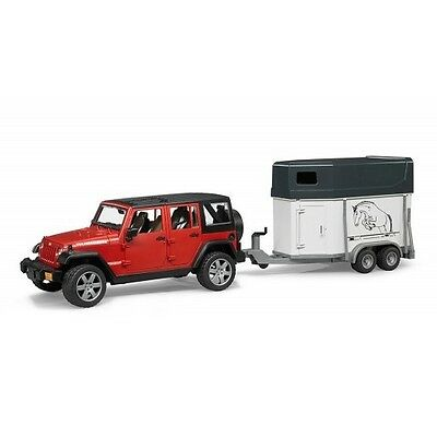 Bruder Jeep Wrangler Unlimited Rubicon w Horse Trailer and Horse (02926) Toy