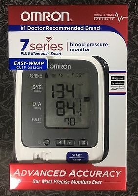 OMRON 7 Series Plus Bluetooth Smart Blood Pressure Monitor Easy Wrap BP761 New