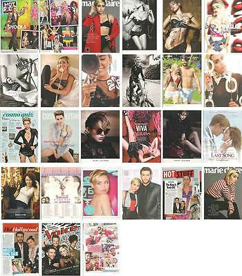 MILEY CYRUS Lot of 26 clippings pages, print ads, pin up The Voice MAC +++