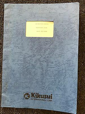 Kikusui Model Plz-300W Electronic Load Instruction Manual