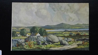 Vintage Maurice Wilks Postcard of the Hills of Donegal Beautiful Scene
