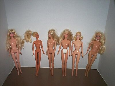 Lot Of 6 Barbie Dolls All Nude Great For Ooak Lot 2