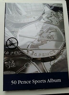 2012 London Olympic 50p Collectors Coin Album for 29 Coins .New.