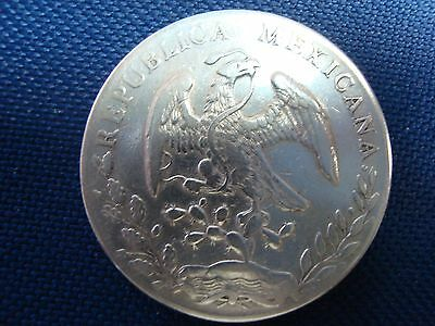 MEXICO 1888  8 Reales Silver Dollar Coin in BU++