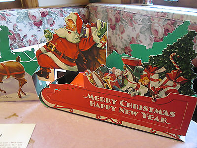Vintage Gibson Christmas Card Sleigh Holder paper S