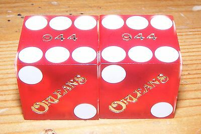 The Orleans Hotel and Casino - Las Vegas - Playing Dice - Red (Gold Lettering)
