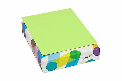 Mohawk BriteHue Ultra Lime 20 lb. 8.5x11 Inch Smooth Text Paper 500 Sheets/Re...