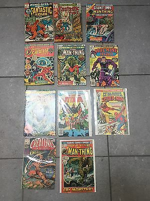 Huge 70's# 1 Spec Spider #1 , Manthing#1,  Powerman # 17,new Titans # 1 , Marve