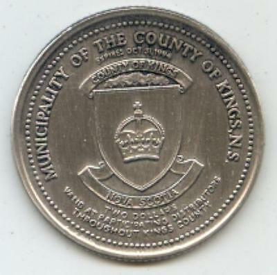 1994 Municipality of the County of Kings Nova Scotia Trade Token Courthouse AAgP