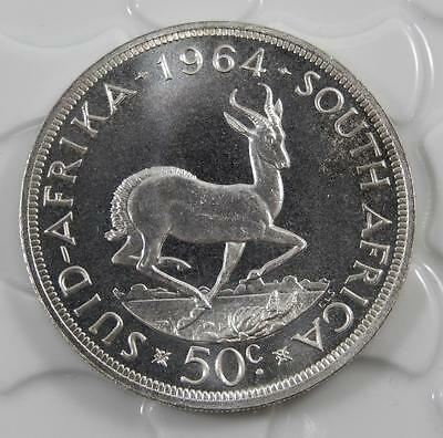 South Africa 1964 PROOF Silver 50 Cent Coin C0217