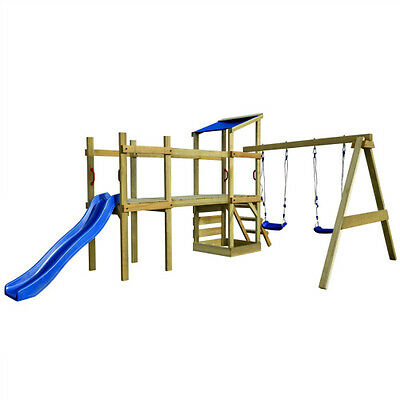 Childrens Wooden Climbing Frame Outdoor Toy Kids Play Centre Lawn PlayhouseSet