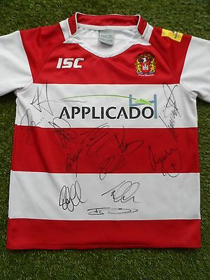 Wigan Warriors Shirt Hand Signed by 2017 Squad - Rugby League - 12 Autographs