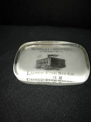 Advertising Paperweight Reynolds Brothers Ladies Fine Shoes