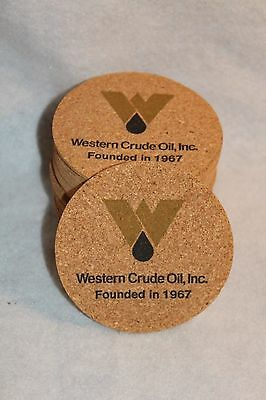 Vintage Oil Company Advertising Cork Coasters Western Crude Oil Inc Founded 1967