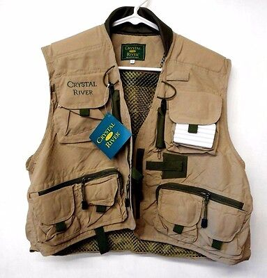 Deluxe Nylon Fly Fishing Vest ~ New ~ Free Shipping