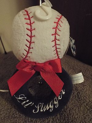 Bearington Baby Collection Lil Slugger Ring Rattle NWT