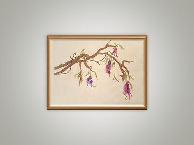 Stump work and embroidery kit  - WISTERIA