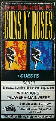 GUNS N' ROSES 1992 CONCERT TOUR TICKET STUB - Use Your Illusion