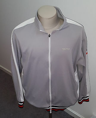 Vintage 90's Nautica Competition gray track jacket mens XL