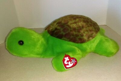 """1999 Ty Beanie Baby Buddies Speedy the Turtle with Tag 13"""" Retired SUPER SOFT!!"""