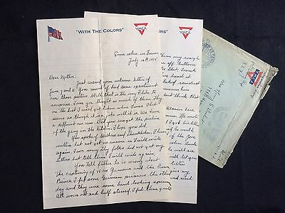 WW1 Soldiers Letter July 1918 France Americans Taking Prisoners