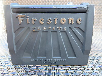 Firestone Cigarette and Match Holder 6 volt Hard Rubber Advertising Vintage