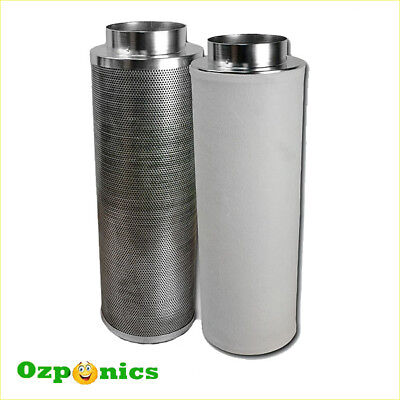 HYDROPONICS 6 INCH ACTIVATED CARBON FILTER For Fresh Clean Air Flow Ventilation