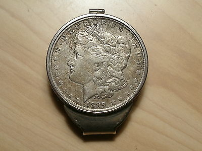 STERLING SILVER Money Clip with authentic MORGAN DOLLAR   choice of dates