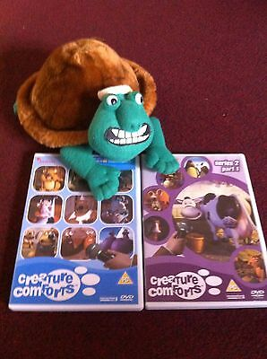 Creature Comforts DVDs And Vintage Frank Tortoise Soft Toy