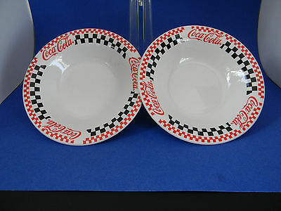 The Coca-Cola Company Set of two Gibson Houseware 1996 Dish Bowl Red White Black