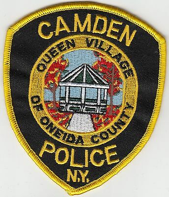 """Camden New York Police Patch """"queen Village Of Oneida County"""" Ny"""