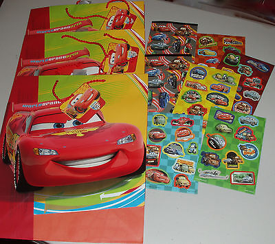 """~~~THREE HALLMARK CHRISTMAS """"CARS"""" Gift BAGS PLUS 7 SHEETS of CARS Stickers~~~"""