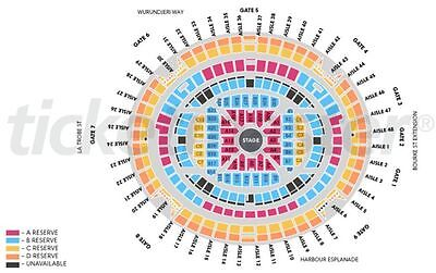 2 x ADELE LIVE Tickets Melbourne 19 March 2017 Reserved Seats NO RESERVE