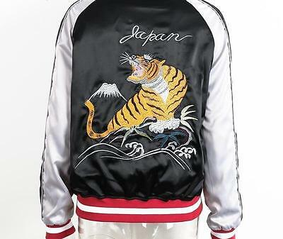 2 in 1 Reversible Bomber Jacket Tiger & Eagle Embroidered logo HIGHER QUALITY