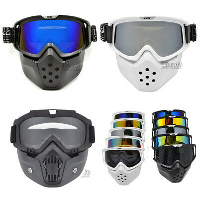 Detachable Goggles Nose Face Mask Mouth Filter Modular Motorcycle Shield Helmet